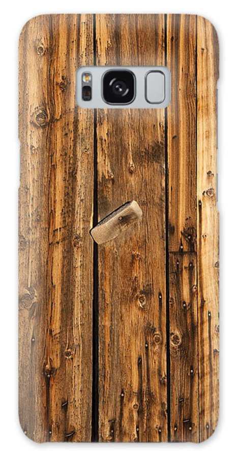 Wood Galaxy S8 Case featuring the photograph Old Shed Door by Eric Rundle