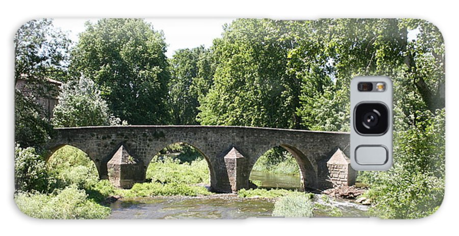 Stone Arch Bridge Galaxy S8 Case featuring the photograph Old Stone Arch Bridge by Christiane Schulze Art And Photography