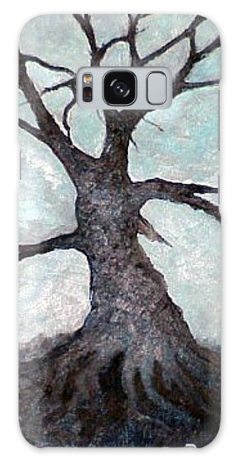 Landscape Galaxy Case featuring the painting Old Tree by Sergey Bezhinets