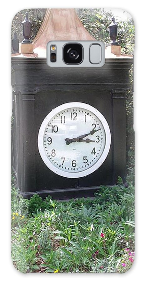 Old Clock Galaxy S8 Case featuring the photograph Old Tyme Clock by Gail Matthews