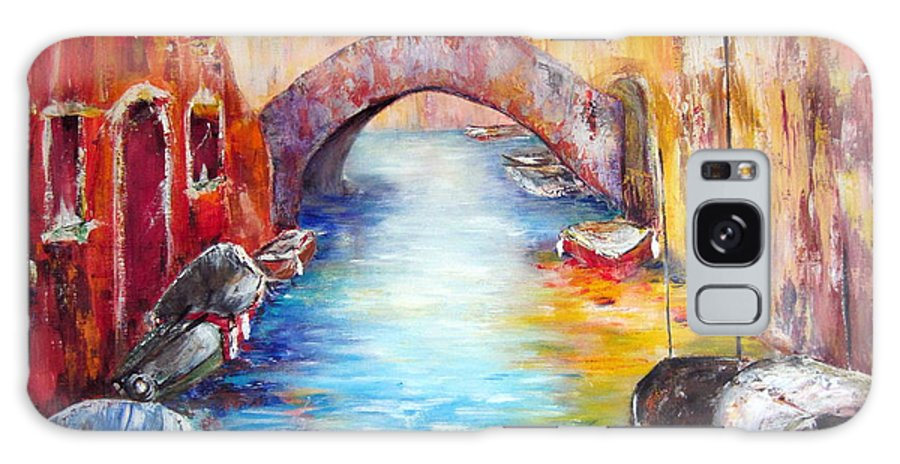 Venice Galaxy S8 Case featuring the painting Old Venice by Cheryl Ehlers