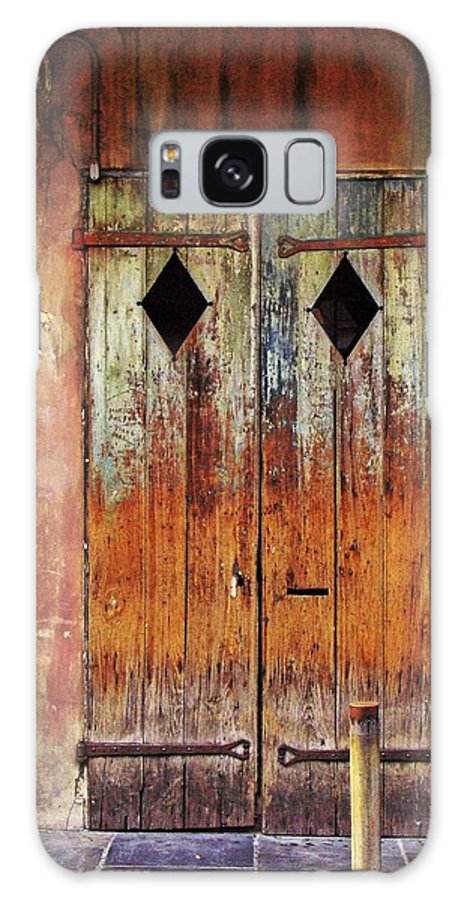Door Galaxy S8 Case featuring the photograph Old Wooden Door In French Quarter by Jaime Crosas