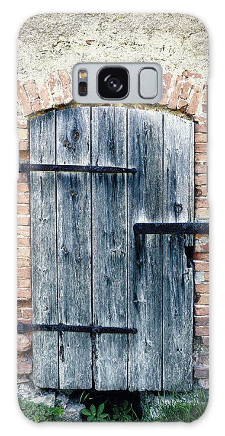 Arch Galaxy Case featuring the photograph Old Wooden Door by Styf22