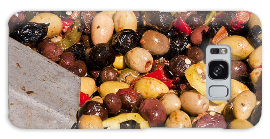Market Day Apt Markets Olive Olives Fruit Fruits Provence Galaxy S8 Case featuring the photograph Olives by Bob Phillips