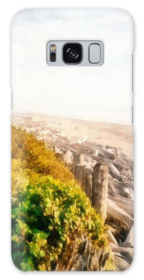 Washington State Coastline Galaxy S8 Case featuring the photograph Olympic Peninsula Driftwood by Michelle Calkins