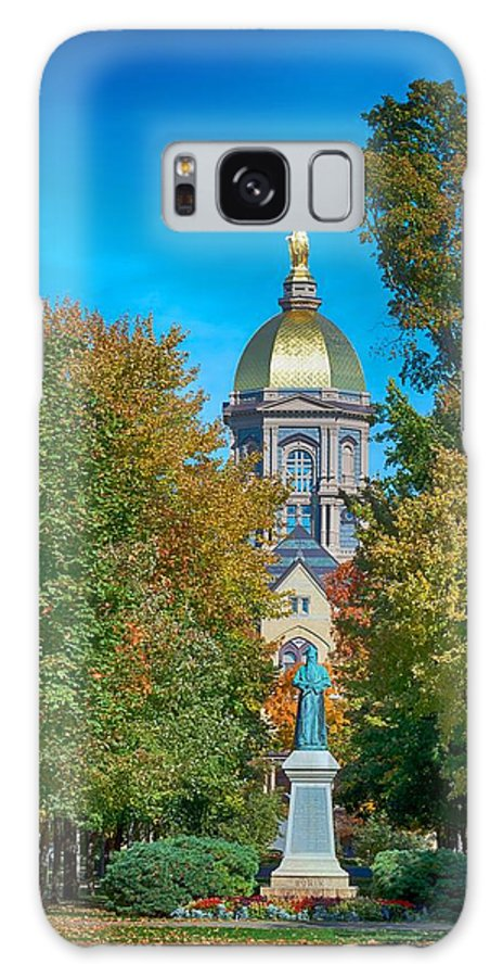 University Of Notre Dame Galaxy Case featuring the photograph On the Campus of the University of Notre Dame by Mountain Dreams