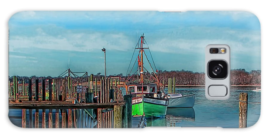 Photographs Galaxy S8 Case featuring the photograph On The Dockside Bristol Rhode Island by Tom Prendergast