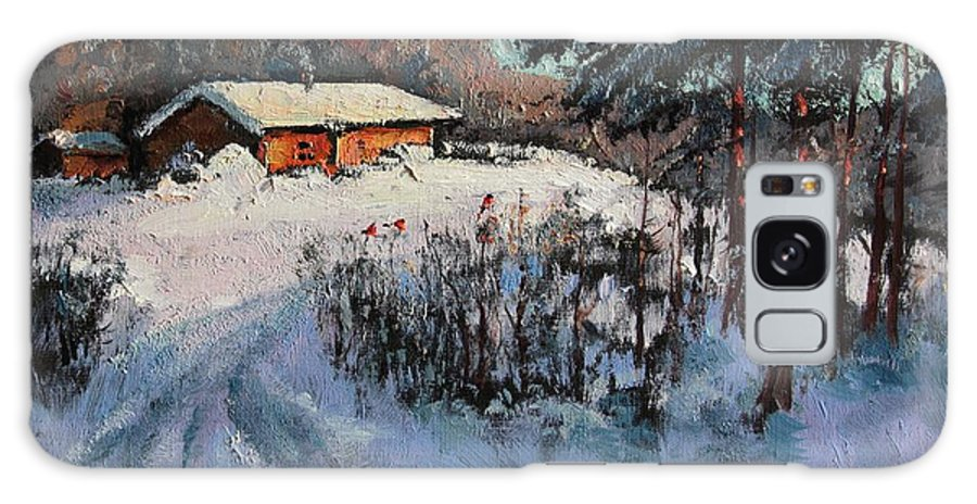 Winter Galaxy S8 Case featuring the painting On The Farm by Mark Kremer