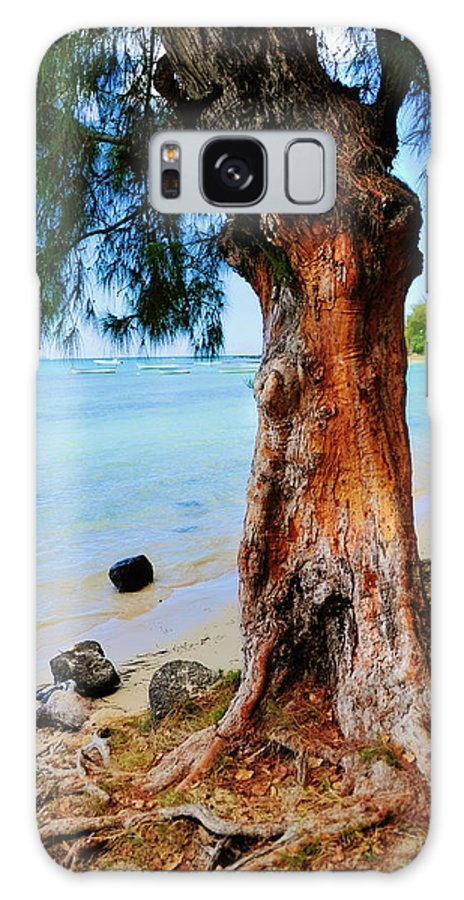 Tropic Galaxy S8 Case featuring the photograph On The Shore 1. Mauritius by Jenny Rainbow