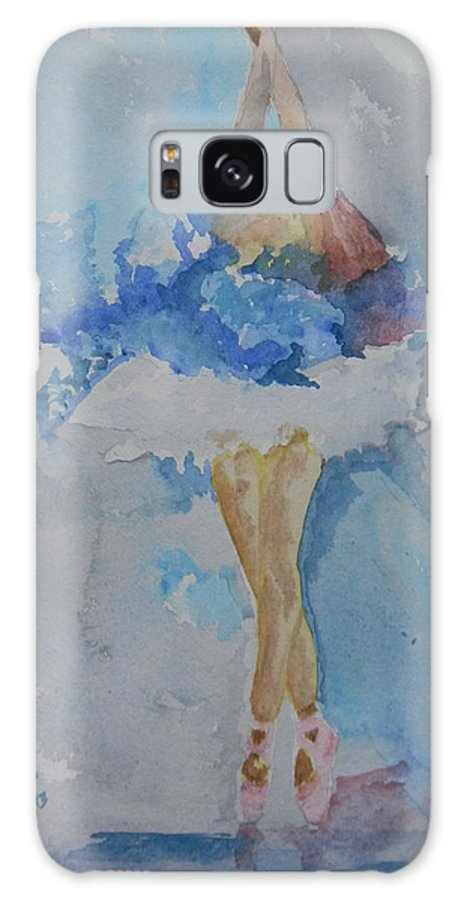 Ballet Galaxy S8 Case featuring the painting On The Toes by Sudip Mitra