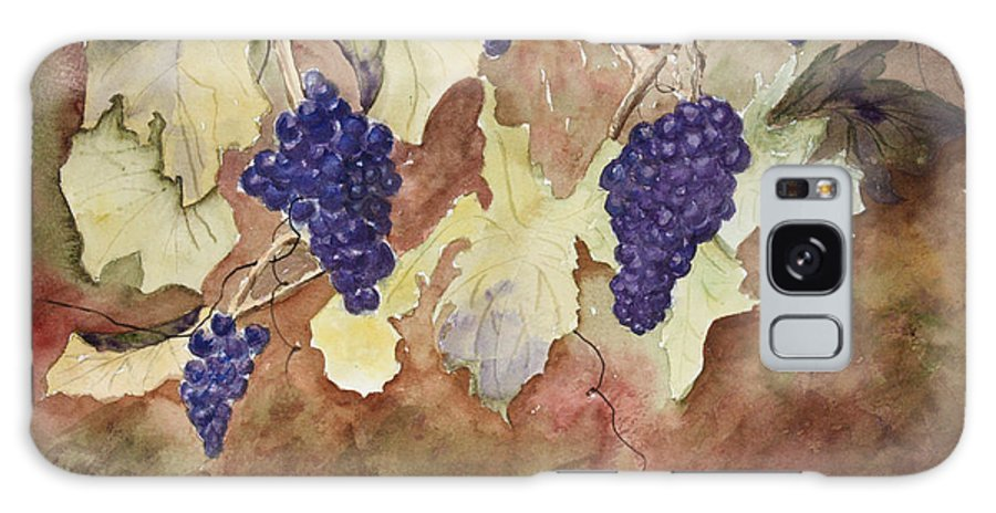 Grapes Galaxy S8 Case featuring the painting On The Vine by Patricia Novack