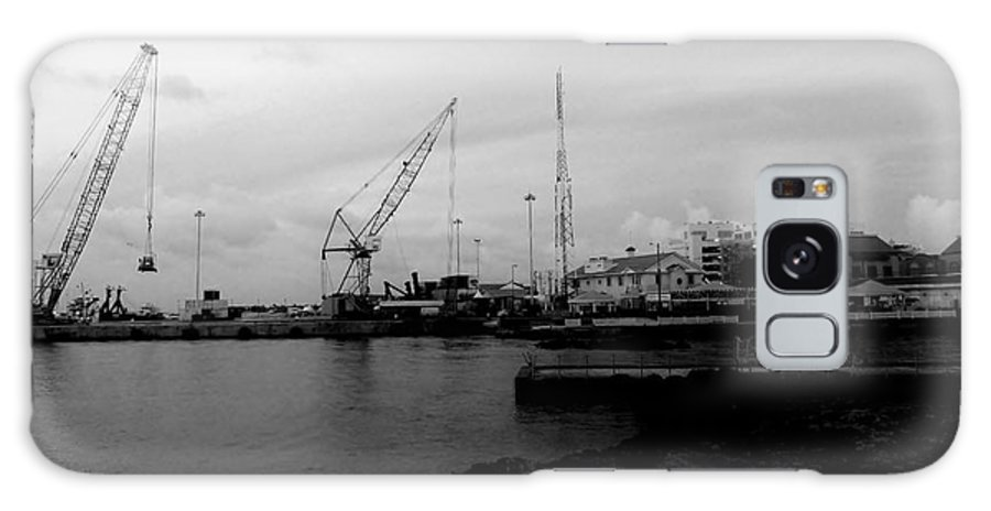 Black And White Galaxy S8 Case featuring the photograph On The Waterfront by Amar Sheow