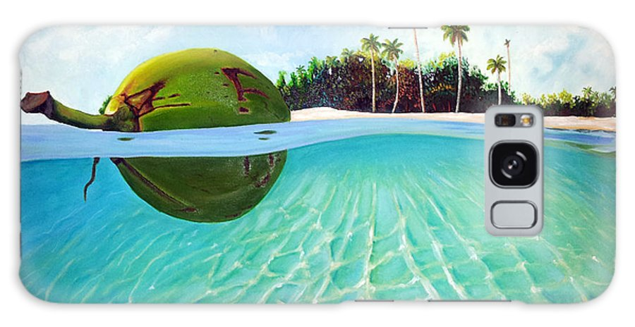 Coconut Galaxy Case featuring the painting On The Way by Jose Manuel Abraham