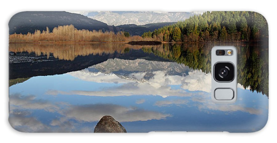 Landscape Galaxy S8 Case featuring the photograph One Mile Lake One Rock Reflection Pemberton B.c Canada by Pierre Leclerc Photography