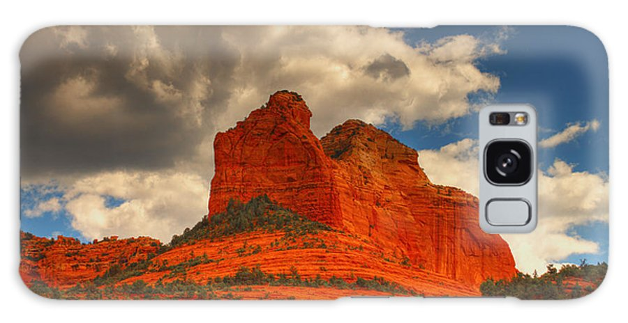 Red Rocks Galaxy S8 Case featuring the photograph One Sedona Sunset by Hany J