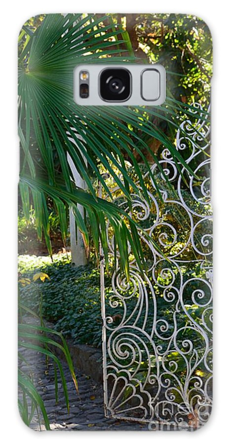 Garden Gate Galaxy S8 Case featuring the photograph Open Slowly by Beth Sanders