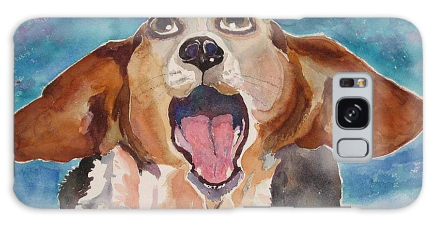Basset Hound Galaxy S8 Case featuring the painting Opera Dog by Brenda Kennerly