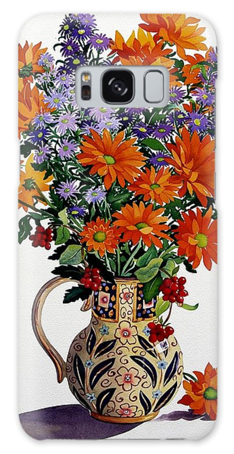 Flowers Galaxy S8 Case featuring the painting Orange Chrysanthemums by Christopher Ryland
