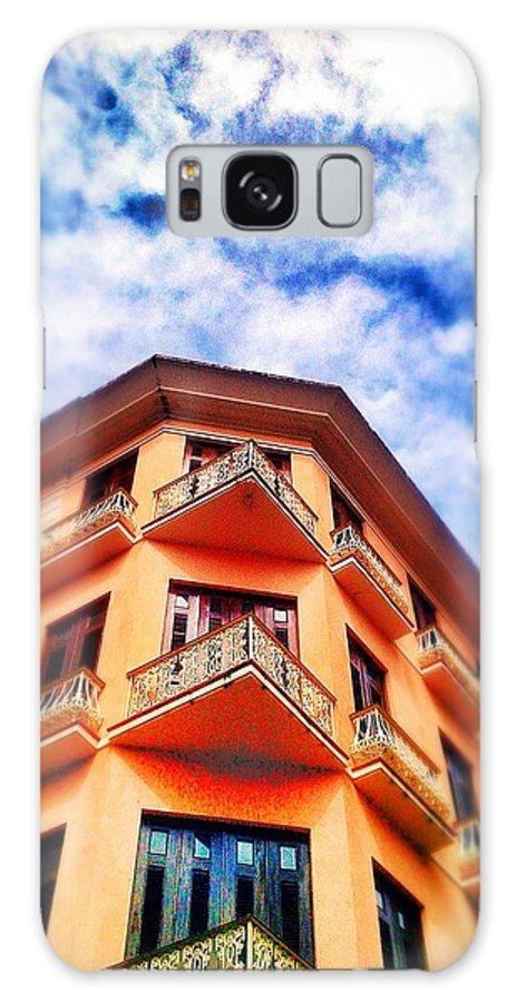 Old San Juan Galaxy S8 Case featuring the digital art Orange Corner by Olivier Calas
