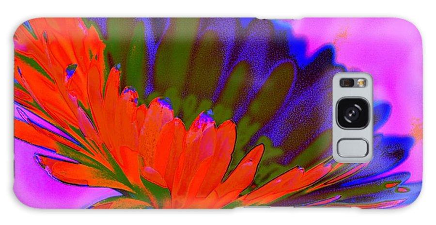 Flower Galaxy S8 Case featuring the digital art Orange Flower From Side by John Le Brasseur