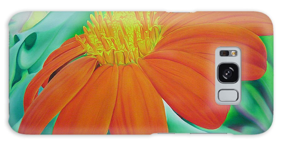Flowers Galaxy S8 Case featuring the painting Orange Flower by Joshua Morton
