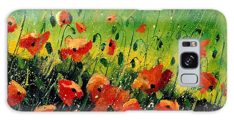 Poppies Galaxy Case featuring the painting Orange Poppies by Pol Ledent