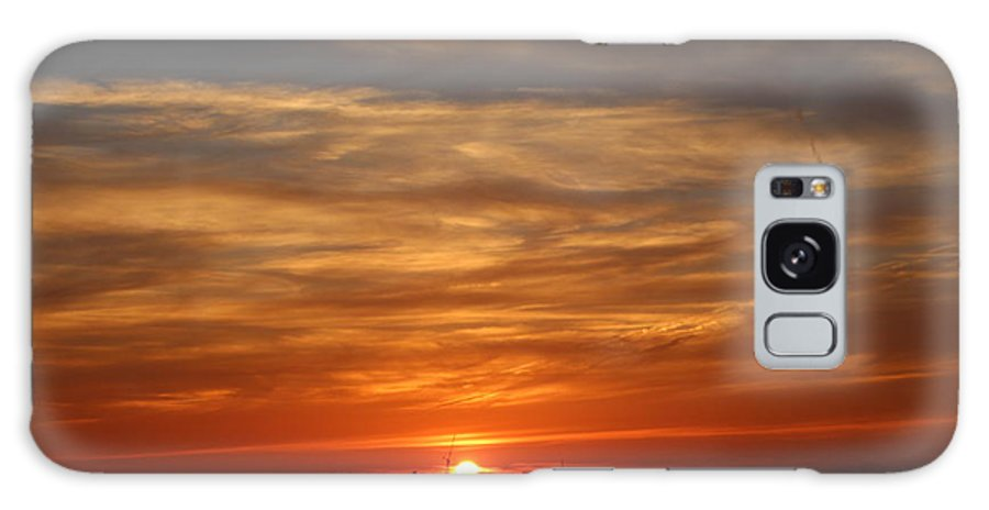 Sunset Galaxy S8 Case featuring the photograph Orange Sunset by Kevin Struble