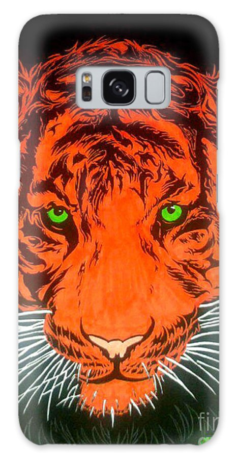 Wildlife Galaxy S8 Case featuring the drawing Orange Tiger by Justin Moore