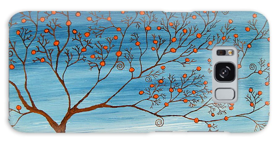 Orange Galaxy S8 Case featuring the painting Orange Tree by Cevin Cox