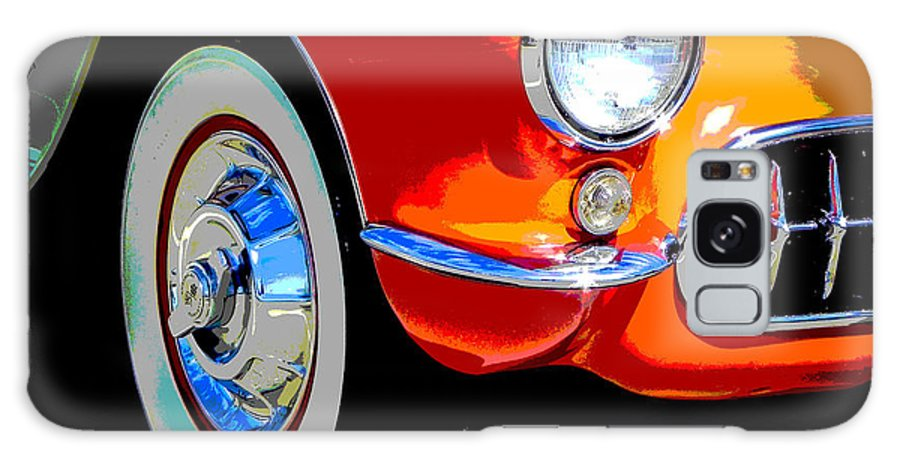 Vette Galaxy S8 Case featuring the photograph Orange Vette by Chuck Re