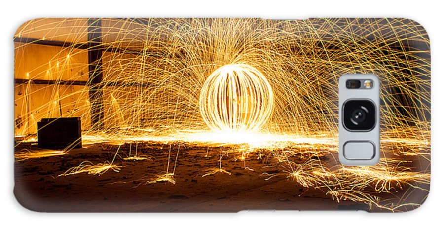 Steel Wool Photography Galaxy S8 Case featuring the photograph Orb Of Light by Noah Siano