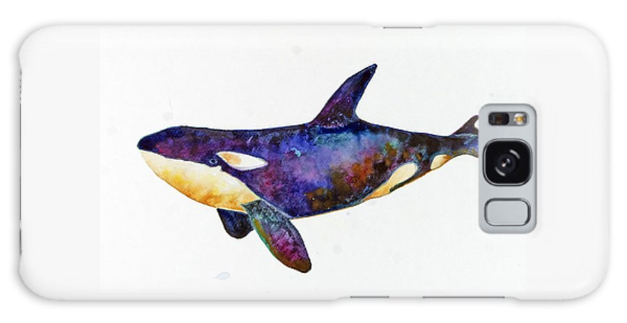 Orca Galaxy S8 Case featuring the painting Orca Killer Whale by Michelle Scott