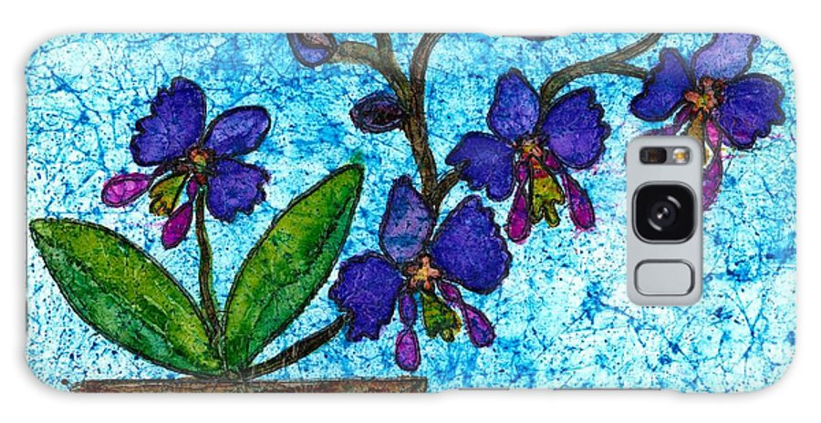 Alcohol Inks Galaxy S8 Case featuring the mixed media Orchid by Toni McCullough