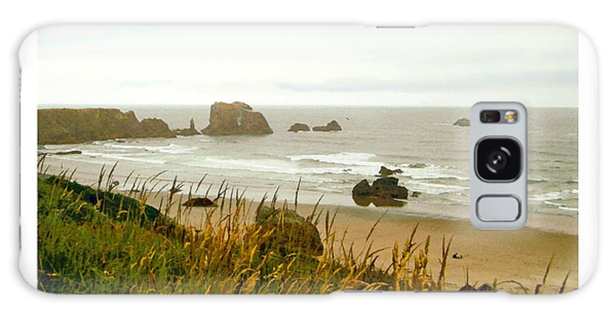 Beach Galaxy S8 Case featuring the digital art Oregon Beach by Kenneth De Tore