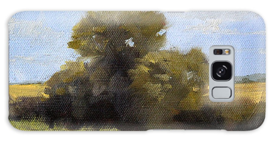 Oregon Landscape Galaxy S8 Case featuring the painting Oregon Field Study by Nancy Merkle