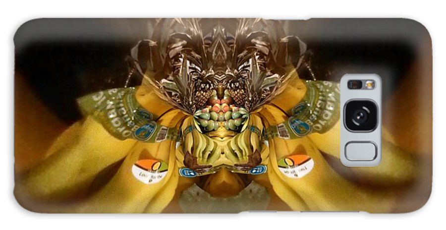 Organic Banana Spider Galaxy S8 Case featuring the digital art Organic Banana Spider by Michael Bates