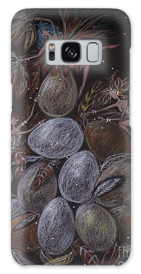 Eggs Galaxy S8 Case featuring the drawing Organic by Dawn Fairies