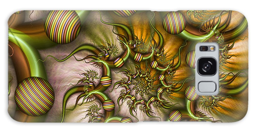 Abstract Galaxy S8 Case featuring the digital art Organic Playground by Gabiw Art