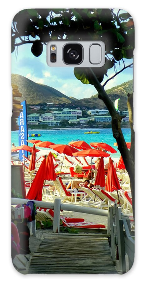 Beaches Galaxy S8 Case featuring the photograph Orient Beach Peek by Karen Wiles