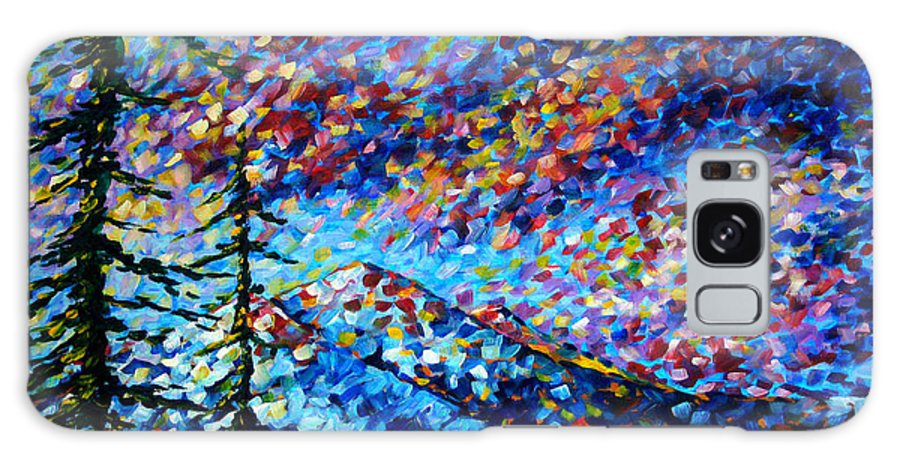 Abstract Galaxy S8 Case featuring the painting Original Abstract Impressionist Landscape Contemporary Art By Madart Mountain Glory by Megan Duncanson