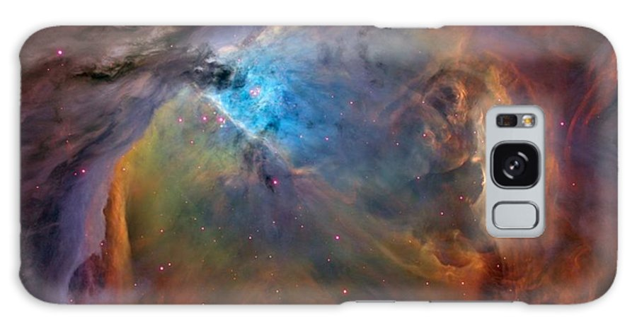 Upsizing It Will Make The Fine Details Blurry And Blocky. Orion Nebula Known As Messier 42 Galaxy S8 Case featuring the photograph Orion Nebula Close Up 2 1-3-14 by L Brown
