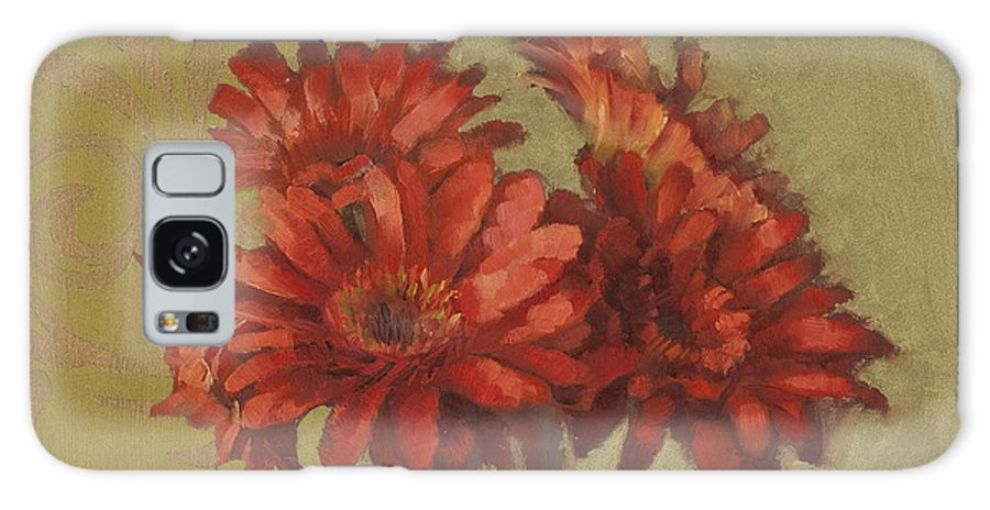 Floral Galaxy S8 Case featuring the painting Ornamental Gerbers by Cathy Locke