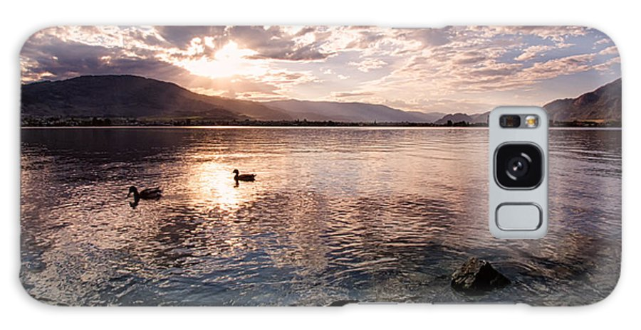 Canada Galaxy S8 Case featuring the photograph Osoyoos Lake Sunset by Allan Van Gasbeck