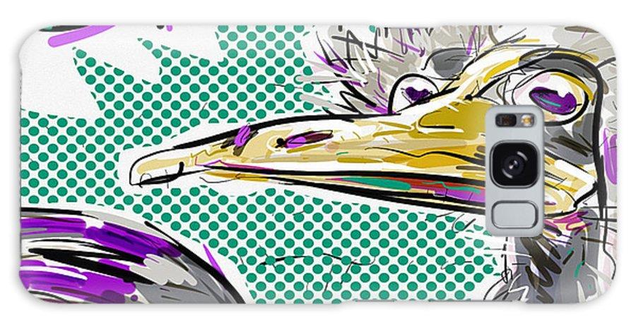 Ostrich Galaxy S8 Case featuring the digital art Ostrich by Brett LaGue