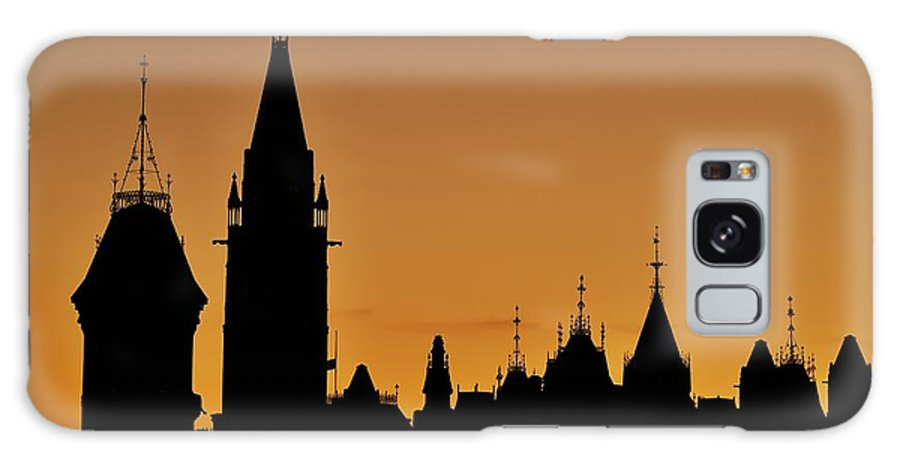 Peace Tower Galaxy Case featuring the photograph Ottawa Dusk by Tony Beck