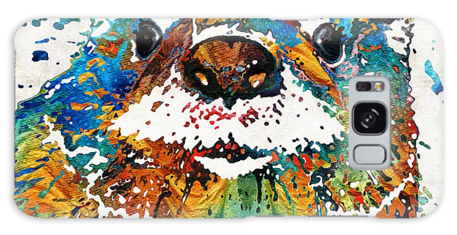 Otter Galaxy S8 Case featuring the painting Otter Art - Ottertude - By Sharon Cummings by Sharon Cummings