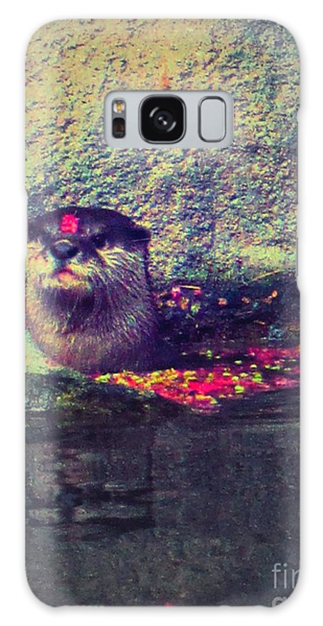 Otter Galaxy S8 Case featuring the photograph Otterly Pink by Heather Taylor