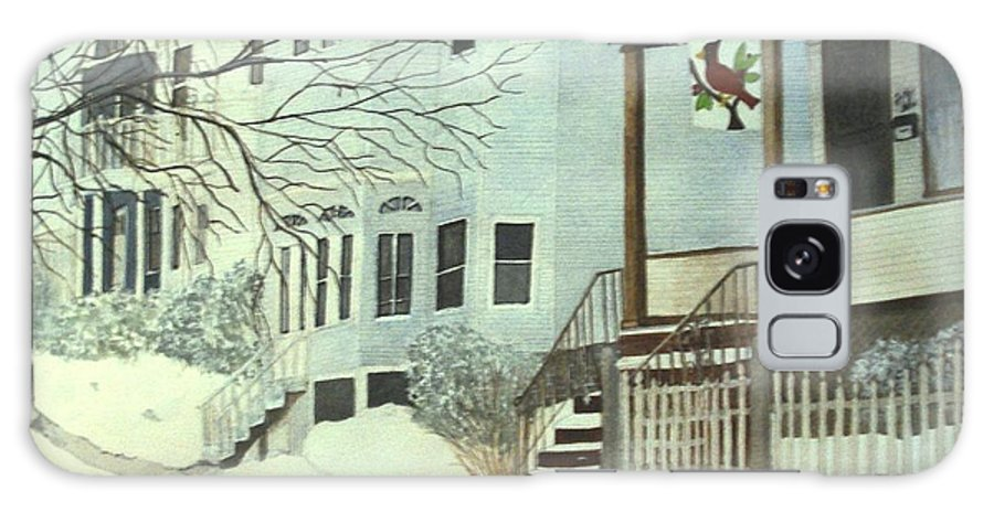 Medford Galaxy S8 Case featuring the painting Our House In Medford by June Holwell