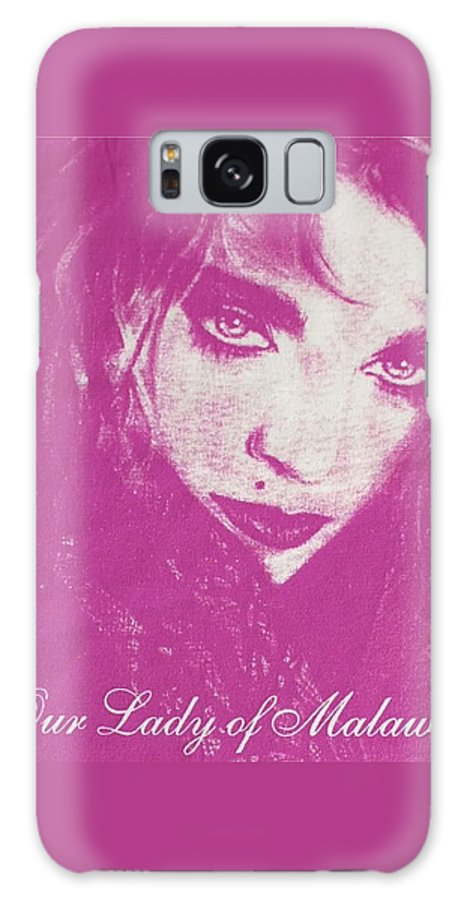 Madonna Galaxy Case featuring the drawing Our Lady Of Malawi Madonna by Ayka Yasis