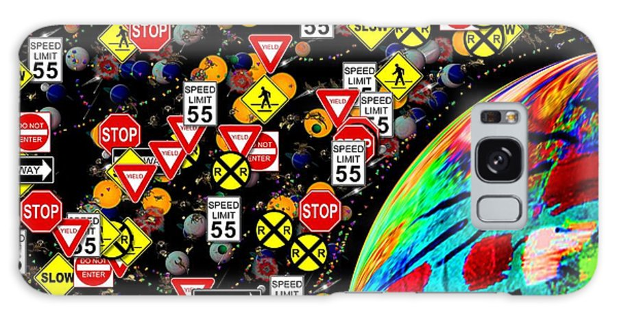Abstract Galaxy S8 Case featuring the painting Our World by James and Donna Daugherty